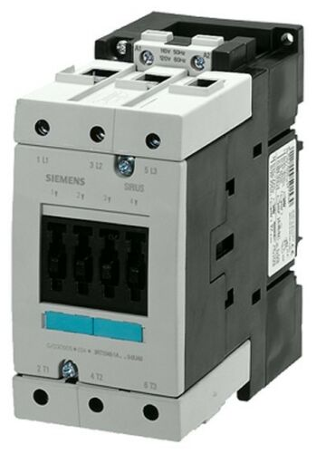 3-pole contactor with a 120 volt AC coil Siemens 3RT1045-1AK60 80 AMP