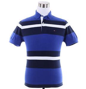 Tommy-Hilfiger-Men-Short-Sleeve-Classic-Fit-Stripe-Pique-Polo-Shirt-0-Ship