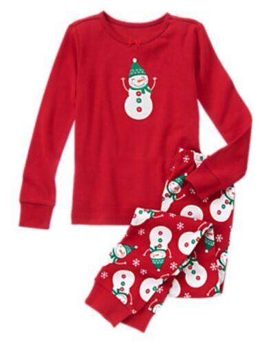 NWT Gymboree Snowman Gymmies Sleep Set Pajamas PJ Holiday Christmas NEW 8 10
