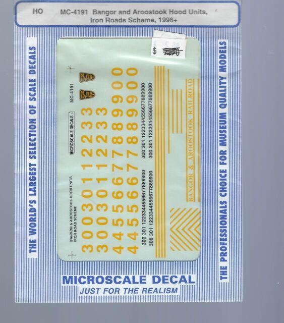 -Diesel 1950-1967 Microscale Decal #87-815 Great Northern Hood Diesels