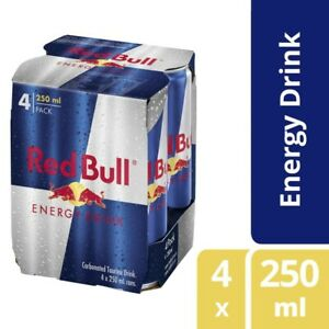4-Multi-Pack-Red-Bull-Carbonated-Taurine-Functional-Energy-Drink-Cans-250mL