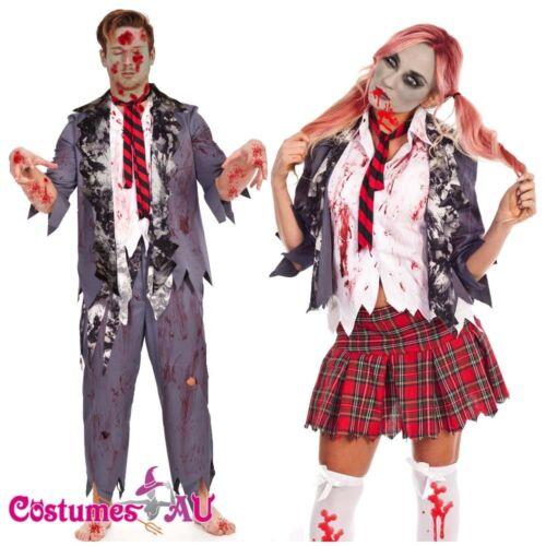 Halloween Zombie Bloody School Girl Student Teacher Costume Fancy Dress Costume