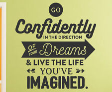 Go Confidently in your Direction Wall Sticker Wall Quote Decal Family Window C40