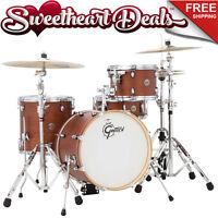 Gretsch Catalina Club Jazz 4-piece Shell Pack Drum Kit - Satin Walnut Glaze