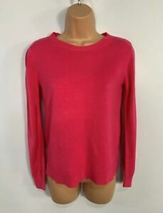 WOMENS-MARKS-amp-SPENCER-PINK-LONG-SLEEVE-CASUAL-PULLOVER-JUMPER-SWEATER-SIZE-UK-8