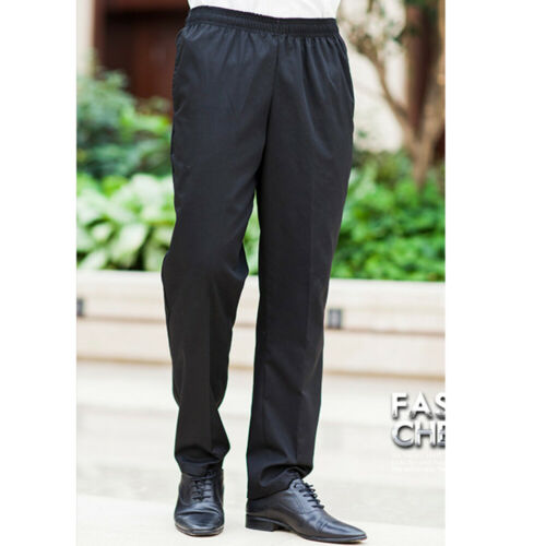 Kitchen Baggy Trousers Chef Working Pants Restaurant Staff Black Uniform Slacks