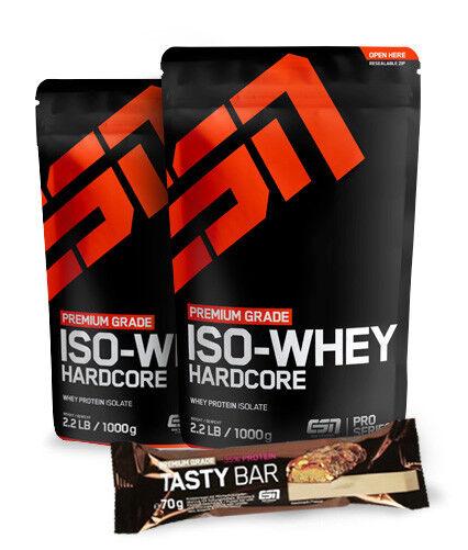 2 x 1000g ESN IsoWhey IsoWhey ESN Hardcore + Gratis ESN Tasty Bar - Direkt vom Hersteller 6eff1b