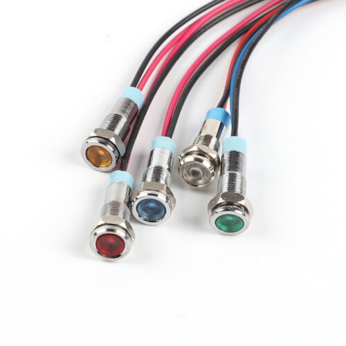 1pcs 6mm LED MetallAnzeige Licht Signal Lampe 3V 5V 6V 9V 12V 24V 110V 220V