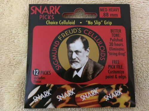 SNARK SIGMUND FREUD/'S CELLULOIDS PICKS 12 PACK MEDIUM HEAVY  .88mm  LOW AS $3.69