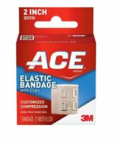 4 Pack - Ace Elastic Bandage With Clips, 2 Inches, 1 Each on Sale