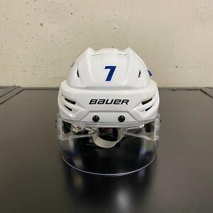 WINNIPEG JETS NHL 2019-20 NHL GAME USED WORN WHITE HELMET DMITRY KULIKOV 7