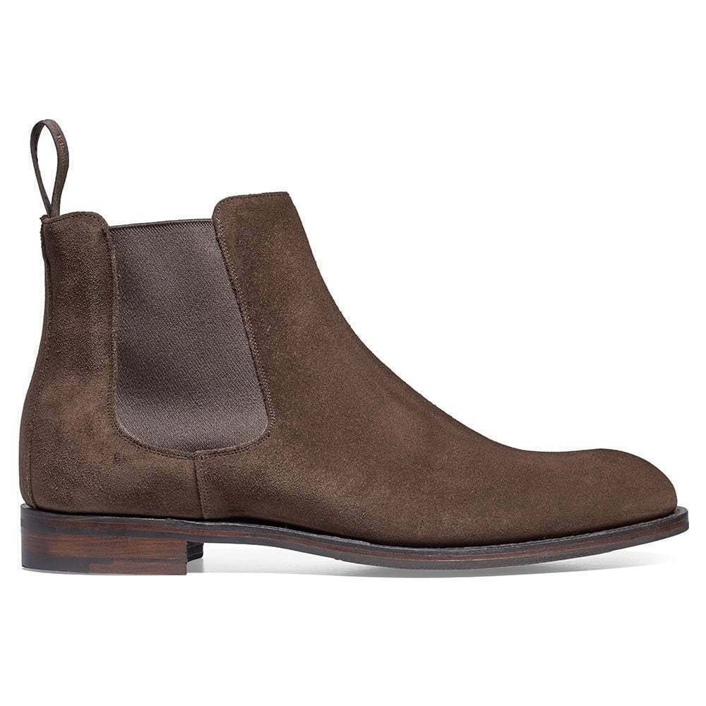 Mens Handmade Boots Leather And Brown Suede Ankle Chelsea Formal Casual shoes