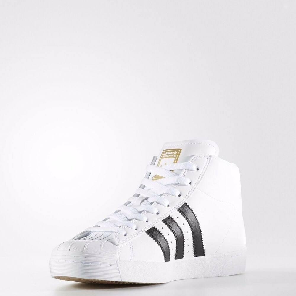 [BY4095] homme ADIDAS ORIGINALS PRO MODEL VULC SHELL TOP HI blanc noir 7.5-12