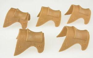 TIMPO-TOYS-5x-Pferde-Sattel-beige-fuer-Suedstaatler-Confederates-Sattle