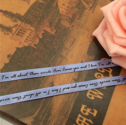 6mm English letters printing Ribbon decoration Gift cake packaging ribbon