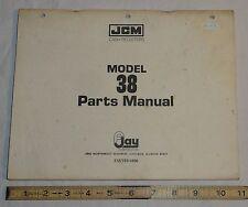 Original Vintage F Jay Corporation JCM Model 38 Cash Register Parts Manual Book