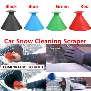 Magical Car Windshield Ice Snow Scrapers,Ice Snow Removal Shovel Tool Round Windshield Ice Scrapers