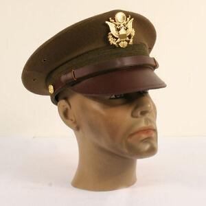 Casquette officier US ARMY WW2 reproduction coiffe kaki t.59.60