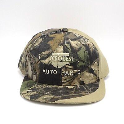 "Vintage ""Napa Auto parts "" Camo Canvas Full Back Snapback Hat"
