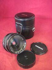 Super Ozeck II Auto MC 1:2.8 f=28mm Lens.Caps.Case PK Pentax Mount