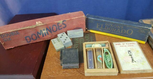 Vintage/Antique Lot Dominos Dixon Pencils Japanese Incense Rustic Matchbooks