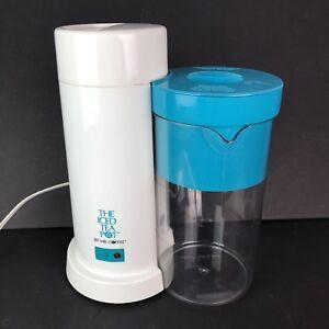 Mr Coffee Iced Tea Pot Maker Blue Brewer Pitcher Sun Ice ...
