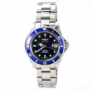 invicta 9094c men 039 s pro diver blue dial automatic stainless image is loading invicta 9094c men 039 s pro diver blue