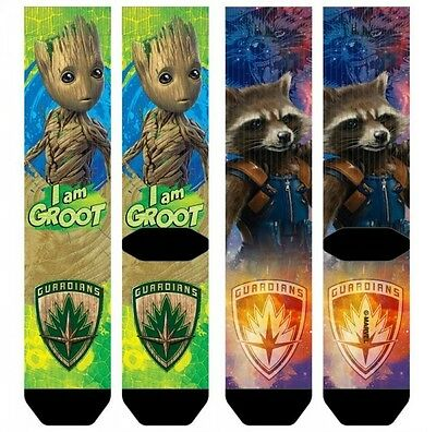 Bioworld Marvel Guardians of The Galaxy 2 I Am Groot Sublimated Crew Calcetines