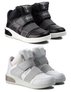 GEOX-RESPIRA-XLED-J847QA-scarpe-bambina-ragazza-donna-sneakers-zeppa-velcro-led