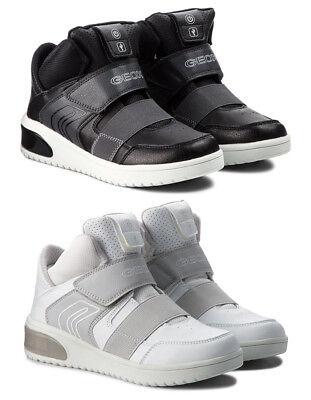 Dettagli su GEOX RESPIRA XLED J847QA scarpe bambina ragazza donna sneakers zeppa velcro led