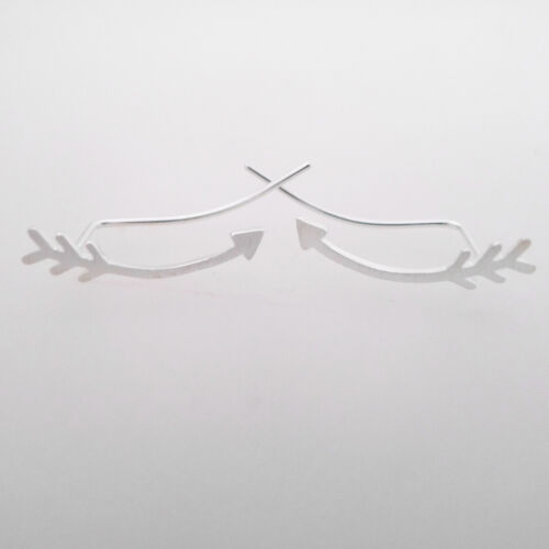 925 Sterling Silver Shooting Love Arrow Curved Climber Crawler Crawlers Earrings