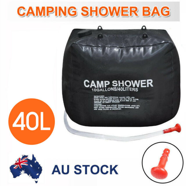 40L Portable Solar Heating Outdoor Camp Shower Bag AU Stock
