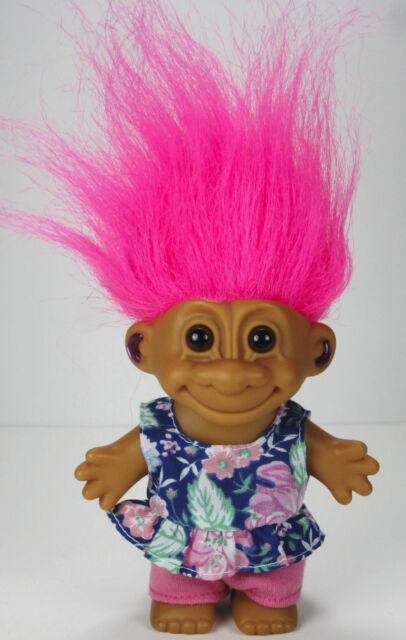 Russ berrie 4 girl troll pink hair blue flower top outfit sun suit russ berrie 4 girl troll pink hair blue flower top outfit sun suit vintage 90s mightylinksfo