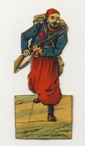 IMAGE-CARD-DECOUPIS-WWI-14-18-TROUPES-COLONIALES-ZOUAVE-a