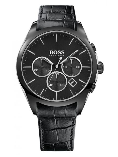Nouveau Hugo Boss 1513367 Hommes Onyx Montre Chronographe - 2 Ans de Garantie
