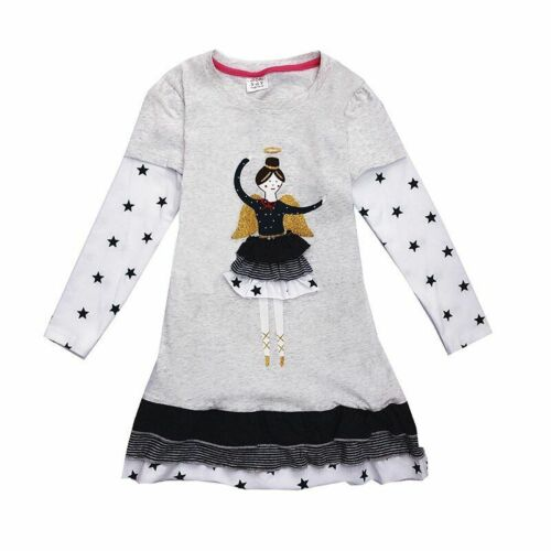 Girls Cotton Dress Long Sleeve Children Kid Princess Dresses for Toddlers Clothe