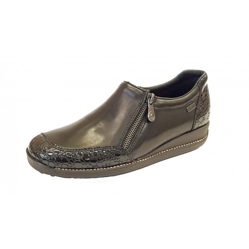 Rieker 44294-45 all'acqua Nero Pelle/Brevetto scarpa resistente all'acqua 44294-45 dd3949
