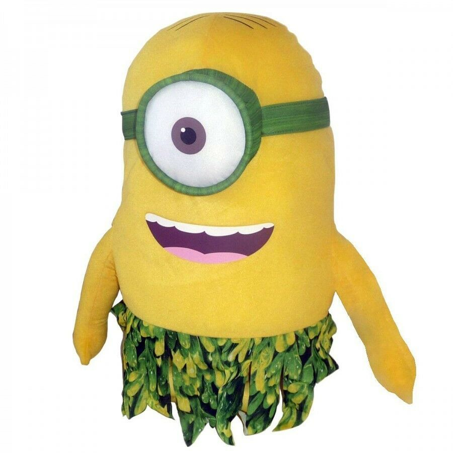 Soft toy MINIONS 28cm with cover of leaves With eye in fabric 3D