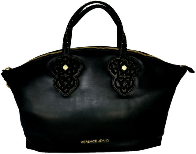 4f5eb74b130a BORSA BORSETTA Tracolla Donna NERO Versace Bag Woman Black for sale ...