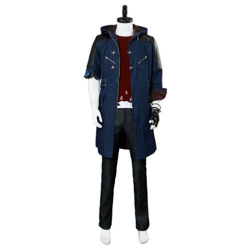 Devil May Cry V DMC5 Nero Outfit Cosplay Costume Outfit Jacket Shirt Full Set
