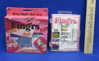 Pro Nail Art Kit Foil Nail Set Fing'rs Lot Of 2