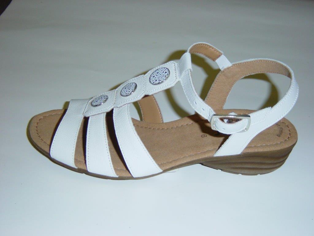 Gabor Sandaletten   weiß   Leder   Größe UK 5 7 (Sandalen)