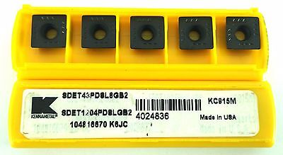 KENNAMETAL SDET43DSL8GB2 SDET1204PDSLGB2 KC915M CARBIDE INSERT