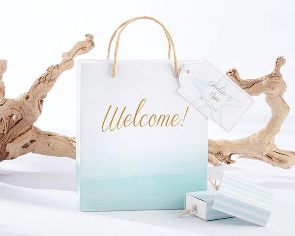Été plage sur le thème de bienvenue Sacs Cadeau Bridal Shower Mariage Favor