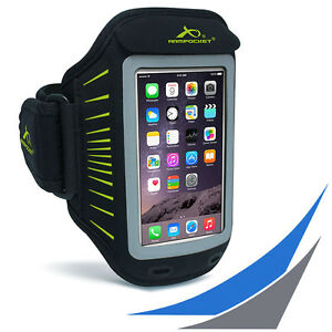 fuer-Smartphones-ARMPOCKET-Racer-Black-Yellow-Sportarmband