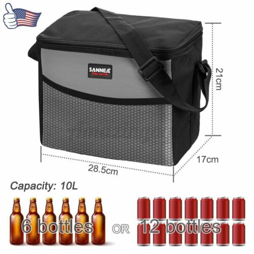 Insulated Lunch Bag Box Cooler for Men Women Heavy Duty Oxford Nylon Strap USA