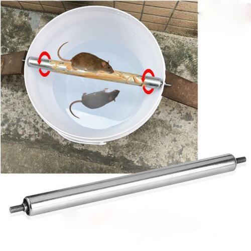 Acier Inoxydable souris souris rats Log Roll Piège Grasp Seau roulant Stic M1E8 nouveau