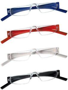 2-Stueck-Lesebrille-randlos-Unisex-Lesehilfe-Kunststoff-Brille-gt-gt-TOP-PREIS