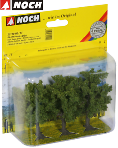NOCH-25110-Fruit-Trees-Green-8-CM-High-3-Piece-New-Boxed