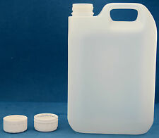8 x 2.5 Litre Natural Plastic Jerry Cans with 38mm Wadded Screw Caps